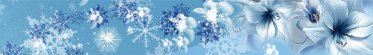 Snowflakes and Flowers Blue